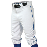 Easton Pro + Knicker Piped Baseball Pants - Men's - White / Blue