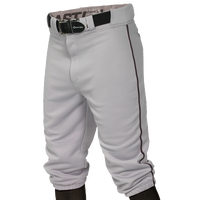 Easton Pro + Knicker Piped Baseball Pants - Men's - Grey / Black
