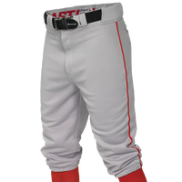 Easton Pro + Knicker Piped Baseball Pants - Men's - Grey / Red