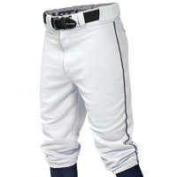 Easton Pro + Knicker Piped Baseball Pants - Boys' Grade School - White / Navy