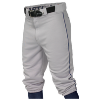 Easton Pro + Knicker Piped Baseball Pants - Boys' Grade School - Grey / Navy