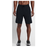 "Nike Dri-FIT Training 8"" Fleece Shorts - Men's - All Black / Black"