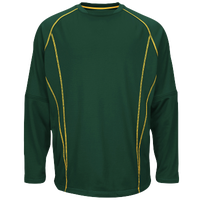 Majestic Practice Pullover - Men's - Dark Green / Yellow