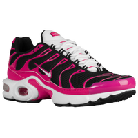 Nike Air Max Plus - Girls' Grade School - Black / White