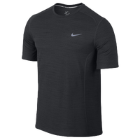 Nike Dri-FIT Cool Miler Short Sleeve T-Shirt - Men's - All Black / Black