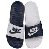 Nike Benassi JDI Mismatch Slide - Men's - Navy / White