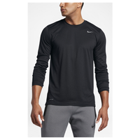 Nike Legend 2.0 Long Sleeve T-Shirt - Men's - All Black / Black