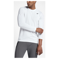 Nike Legend 2.0 Long Sleeve T-Shirt - Men's - All White / White