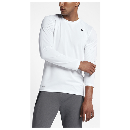 Nike legend 2 0 long sleeve t shirt men 39 s training Mens long sleeve white t shirt