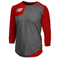 New Balance Asym Right Baseball Shirt - Men's - Red / Grey