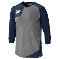 New Balance Asym Right Baseball Shirt - Men's - Navy / Grey
