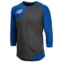 New Balance Asym Right Baseball Shirt - Men's - Blue / Grey