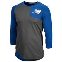 New Balance Asym Left Baseball Shirt - Men's - Blue / Grey
