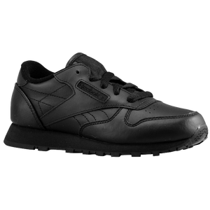 Reebok Classic Leather - Boys' Toddler - Black/Black