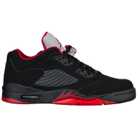 Jordan Retro 5 Low - Men's - Black / Red