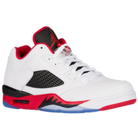 Jordan Retro 5 Low - Men's - White / Red