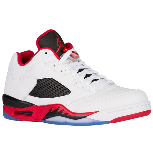 Jordan Retro 5 Low - Men\u0026#39;s - White / Red