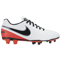 Nike Tiempo Rio III FG - Women's - White / Orange