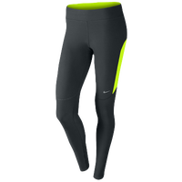 Nike Dri-FIT Filament Tights - Women's - Grey / Light Green