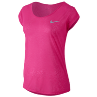 Nike Dri-FIT Cool Breeze Short Sleeve T-Shirt - Women's - Pink / Pink