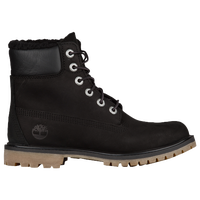 "Timberland 6"" Premium Lined WP Boots - Women's - Black / Black"