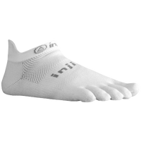 Injinji Lightweight No Show Toe Socks - White / Grey