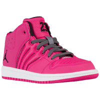 Jordan 1 Flight 4 - Girls' Preschool - Pink / Black