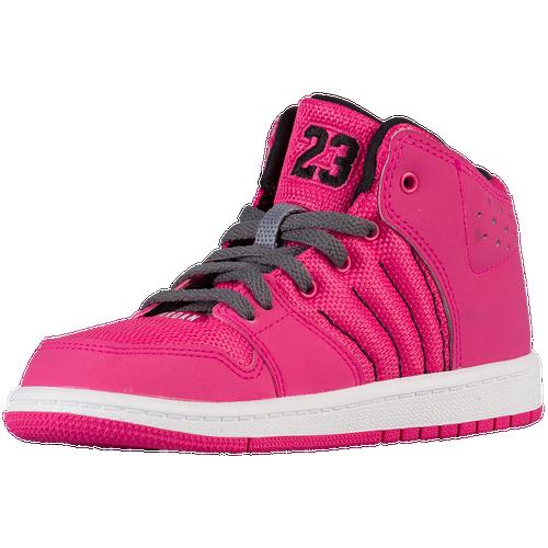 half off 95b0f 80d2d Jordan 1 Flight 4 - Girls  Preschool - Grey   Pink