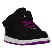 Jordan 1 Flight 4 - Girls' Toddler - Black / White