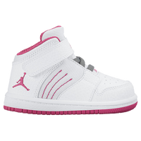 Jordan 1 Flight 4 - Girls' Toddler - White / Pink