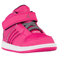 Jordan 1 Flight 4 - Girls' Toddler - Pink / Black