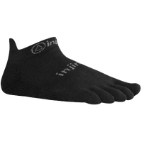 Injinji Original Weight No Show Toe Socks - Black / Grey
