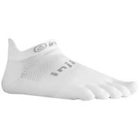 Injinji Original Weight No Show Toe Socks - White / Grey