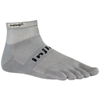 Injinji Original Weight Mini-Crew Toe Socks - Grey / Grey