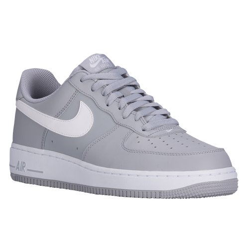 Nike Air Force 1 Low - Men\u0026#39;s - Grey / White