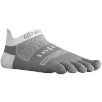 Injinji Midweight No-Show Toe Socks - Grey / White