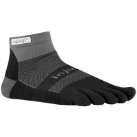 Injinji Midweight Mini-Crew Toe Socks - Black / Grey