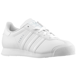 adidas Originals Samoa - Boys' Preschool - White/White/Metallic Silver