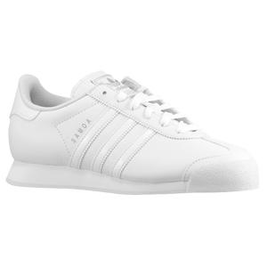 adidas Originals Samoa - Boys' Grade School - White/White/Metallic Silver