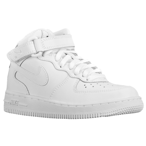 Nike Air Force 1 Mid - Boys' Preschool - White/White