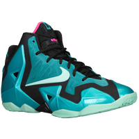 Nike LeBron XI - Boys' Grade School - Aqua / Light Green
