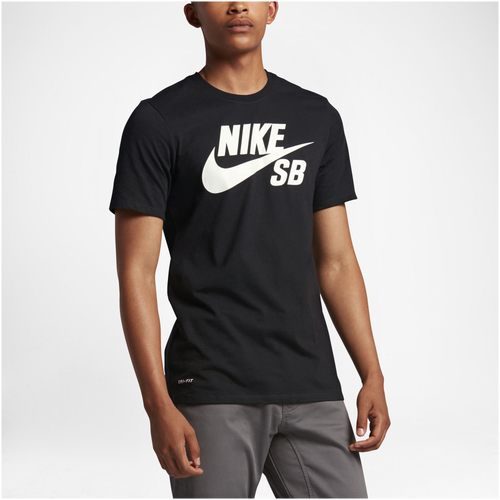 Nike SB Dri-FIT Short Sleeve Logo T-Shirt - Men's - Black / White