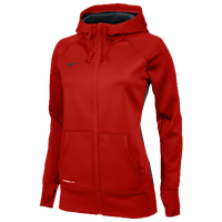 Nike Team Full Zip KO Hoody - Women's - Red / Red