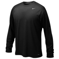 Nike Team Legend L/S Poly Top - Boys' Grade School - All Black / Black