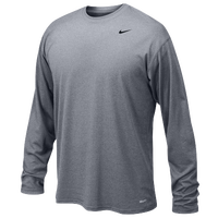 Nike Team Legend L/S Poly Top - Boys' Grade School - Grey / Grey