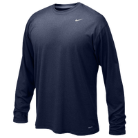 Nike Team Legend L/S Poly Top - Boys' Grade School - Navy / Navy