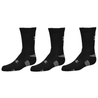 Under Armour Heatgear 3 Pack Crew Socks - Black / Grey