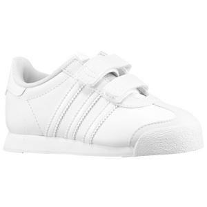 adidas Originals Samoa - Boys' Toddler - White/White/Metallic Silver