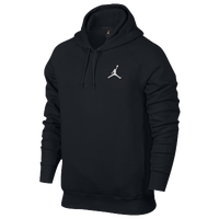 Jordan Flight Fleece Pull Over Hoodie - Men's - All Black / Black