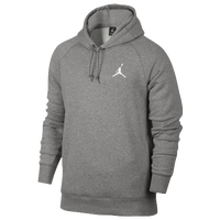 Jordan Flight Fleece Pull Over Hoodie - Men's - Grey / Grey